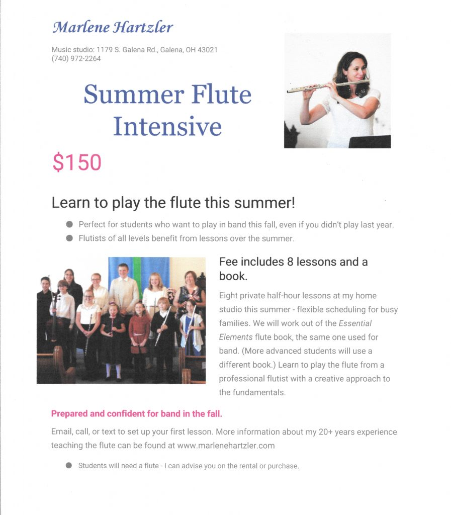 summer flute lessons