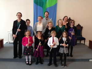 The flute and recorder students of Marlene Hartzler, 2013