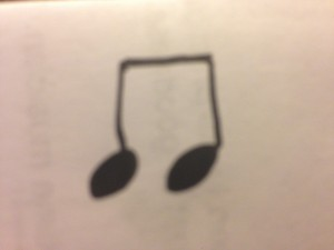 two eighth notes