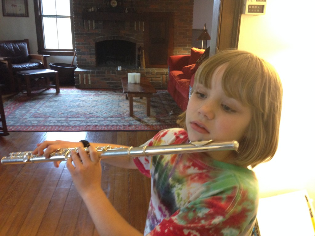 daughter with flute