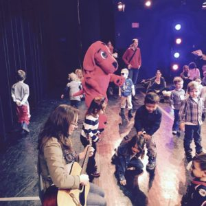 Miss Marlene and Clifford at Toddler Theater