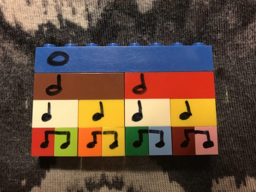 Lego model of the rhythm pyramid