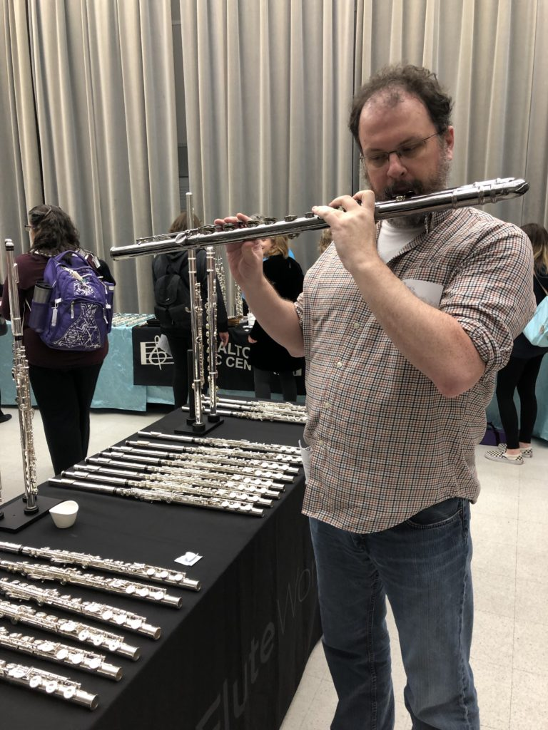 bass flute at the Central Ohio Flute Association event