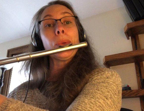 pandemic flute practice